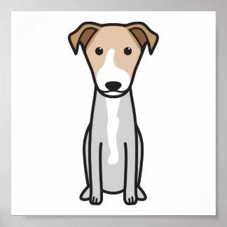 Dibujo animado hawaiano del perro del Poi Poster