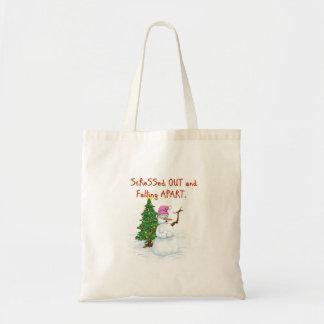 Dibujo animado hilarante de la nieve (señora) bolsa tela barata