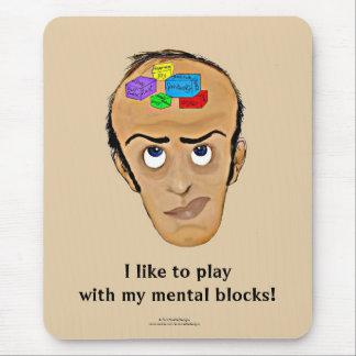 Dibujo animado/hombre del humor de la psicología mouse pad