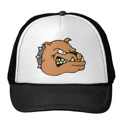 Dibujo animado inglés del dogo gorras de camionero