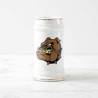 Dibujo animado inglés del dogo taza
