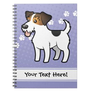 Dibujo animado Jack Russell Terrier Cuadernos