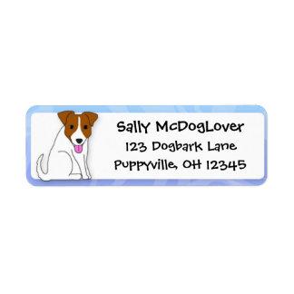 Dibujo animado Jack Russell Terrier Etiqueta De Remitente