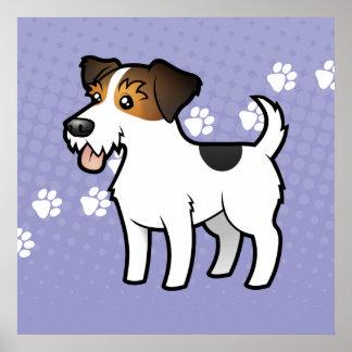 Dibujo animado Jack Russell Terrier Poster