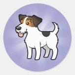 Dibujo animado Jack Russell Terrier Pegatinas Redondas
