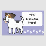 Dibujo animado Jack Russell Terrier Rectangular Pegatinas