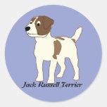 Dibujo animado Jack Russell Terrier Pegatina Redonda
