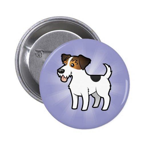 Dibujo animado Jack Russell Terrier Pin Redondo 5 Cm