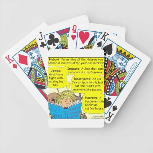 Dibujo animado judío moderno del color de 350 baraja de cartas