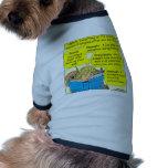 Dibujo animado judío moderno del color de las pala camisetas de perrito