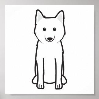 Dibujo animado Karelo-Finlandés del perro de Laika Impresiones