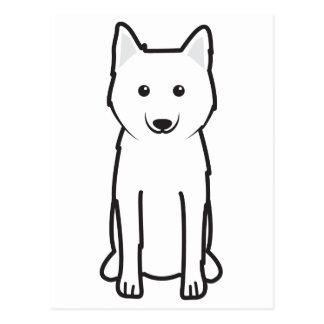 Dibujo animado Karelo-Finlandés del perro de Laika Postal