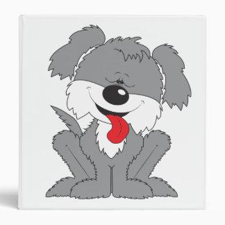 "Dibujo animado lanudo del perrito carpeta 1 1/2"""