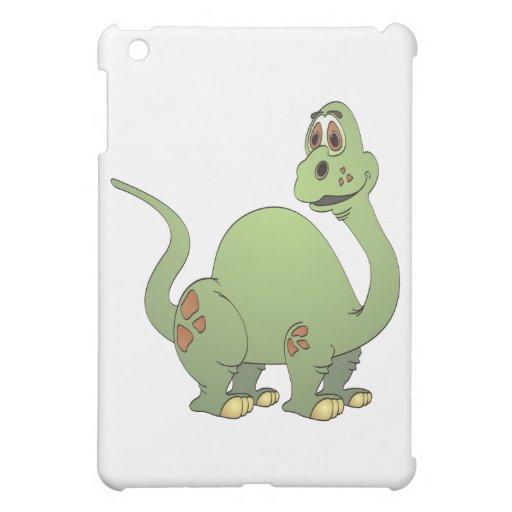 Dibujo animado largo del dinosaurio verde del cuel