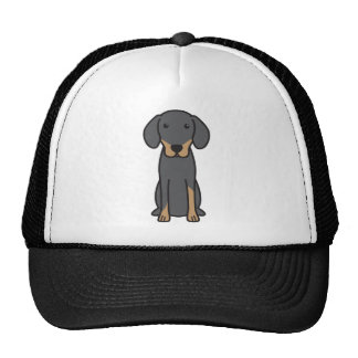 Dibujo animado letón del perro de caza gorras