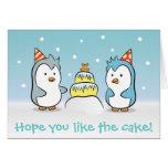 Dibujo animado lindo - celebración del cumpleaños  felicitacion