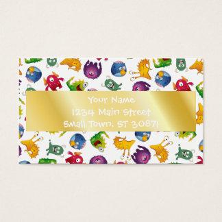 Dibujo animado lindo colorido de la diversión de tarjeta de negocios