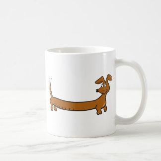 Dibujo animado lindo Dacjshund Taza
