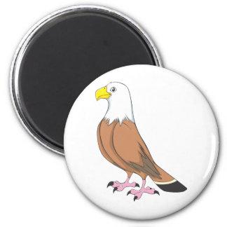 Dibujo animado lindo de encargo de Eagle Imán Redondo 5 Cm