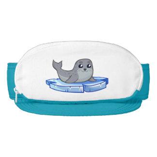 Dibujo animado lindo de la cría de foca visera