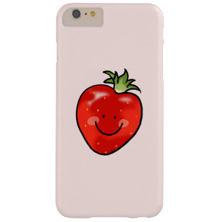 dibujo animado lindo de la fresa de la fruta funda para iPhone 6 plus barely there