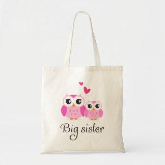 Dibujo animado lindo de la pequeña hermana de la h bolsa tela barata