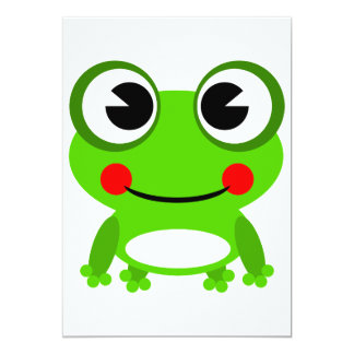 Dibujo animado lindo de la rana comunicados