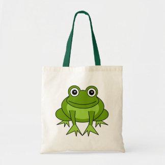 Dibujo animado lindo de la rana - príncipe en el e bolsa tela barata