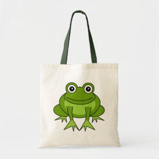 Dibujo animado lindo de la rana - príncipe en el e bolsas de mano
