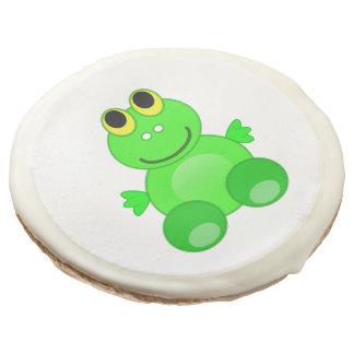 Dibujo animado lindo de la rana