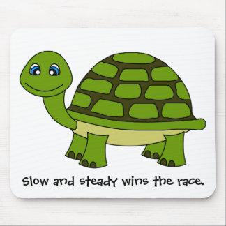 Dibujo animado lindo de la tortuga alfombrillas de ratón
