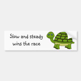 Dibujo animado lindo de la tortuga etiqueta de parachoque