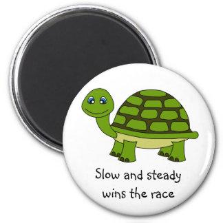 Dibujo animado lindo de la tortuga imán redondo 5 cm