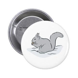 Dibujo animado lindo de las marmotas de los Chipmu Pin Redondo 5 Cm