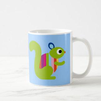 Dibujo animado lindo de las marmotas de los Chipmu Taza De Café