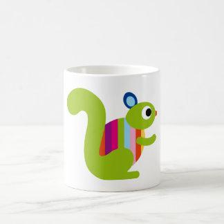 Dibujo animado lindo de las marmotas de los Chipmu Tazas De Café