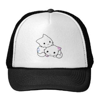 Dibujo animado lindo de los gatitos gorros bordados
