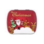 Dibujo animado lindo de Papá Noel de las Felices Frascos De Dulces