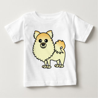 Dibujo animado lindo de Pomeranian Playeras