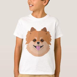 ¡Dibujo animado lindo de Pomeranian! Poleras