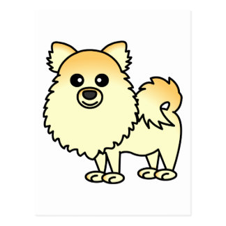 Dibujo animado lindo de Pomeranian Postales