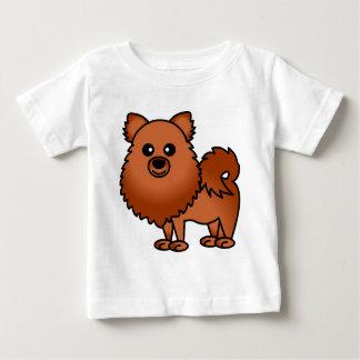 Dibujo animado lindo de Pomeranian - rojo Playeras