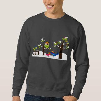 Dibujo animado lindo del árbol de la nieve del sudaderas encapuchadas