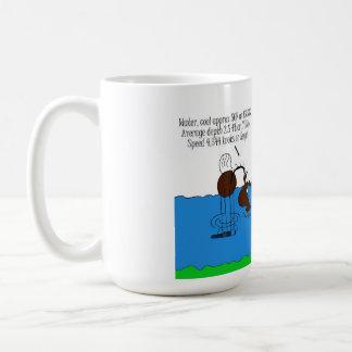 Dibujo animado lindo del caballo de la travesía de taza de café