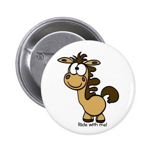 dibujo animado lindo del caballo pin