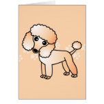 Dibujo animado lindo del caniche del albaricoque tarjeta