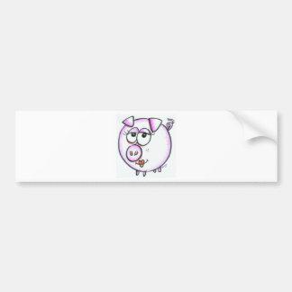 Dibujo animado lindo del cerdo pegatina de parachoque