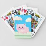 Dibujo animado lindo del cerdo cartas de juego