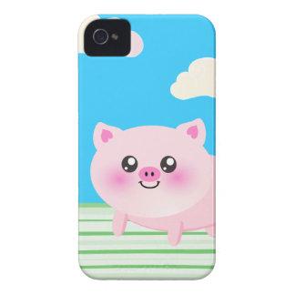 Dibujo animado lindo del cerdo iPhone 4 Case-Mate protector