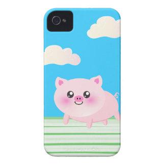 Dibujo animado lindo del cerdo iPhone 4 carcasa
